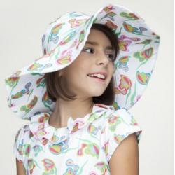 Sombrero farfalle bianche,...