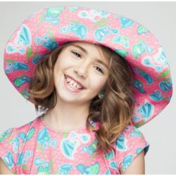 Sombrero farfalle rosa,...